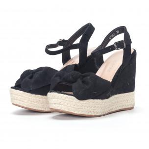 Sandale de dama negre cu platforma 2