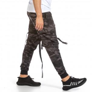 Pantaloni sport bărbați Adrexx camuflaj