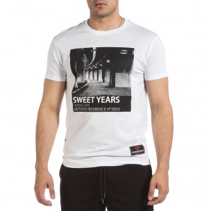 Tricou bărbați Sweet Years alb