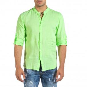Cămașă cu mânecă lungă bărbați Duca Fashion verde
