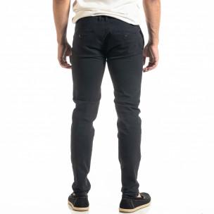 Pantaloni bărbați Bruno Leoni albaștri 2