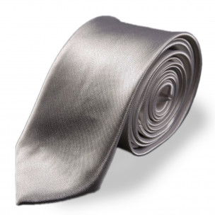 Светло сива изчистена вратовръзка slim fit 2
