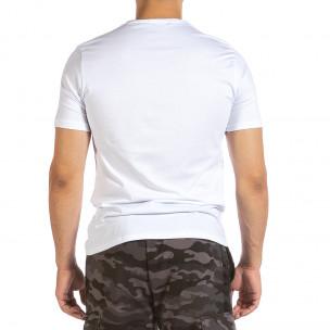 Tricou bărbați Soni Fashion alb 2