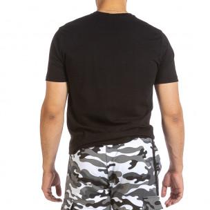 Tricou bărbați Soni Fashion negru 2