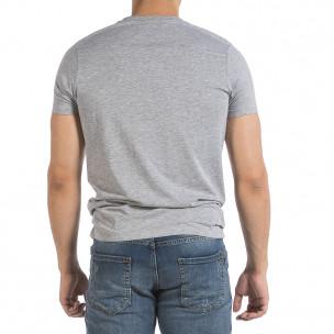 Tricou bărbați Hey Boy gri 2