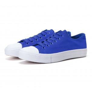 Teniși albaștri cu talpă albă pentru bărbați
