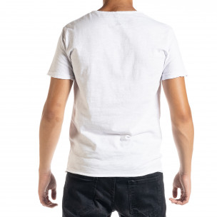 Tricou bărbați Duca Homme alb  2
