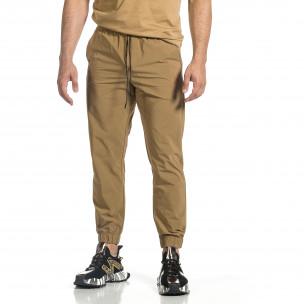 Pantaloni sport bărbați Breezy kaki 2