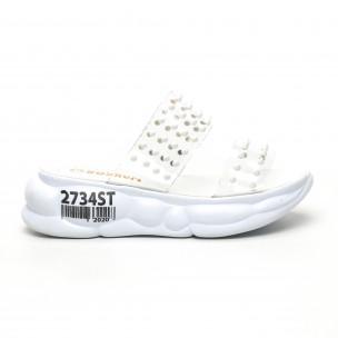 Papuci de dama Bodrum albi