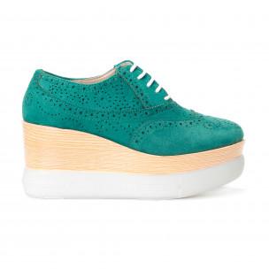 Pantofi cu platforma de dama VeraBlum verzi