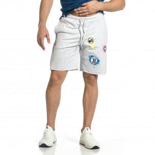 Pantaloni scurți bărbați Breezy gri