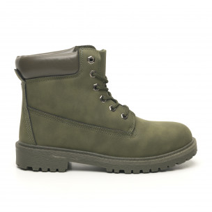 Ghete de bărbați verde militar model clasic