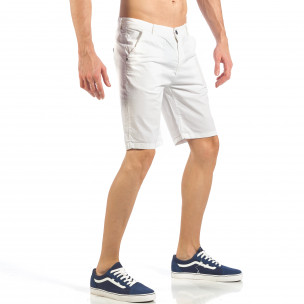Pantaloni scurți de bărbați albi 2