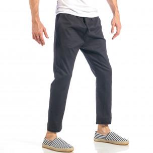 Pantaloni pentru bărbați negri cu talie elastica  2