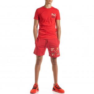Set sportiv roșu pentru bărbați Naruto  2