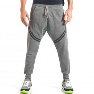 Pantaloni baggy bărbați FM  gri