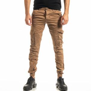Pantaloni cargo bărbați Blackzi camel
