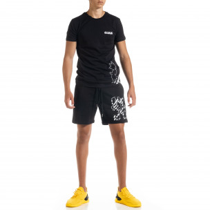 Set sportiv negru pentru bărbați Naruto