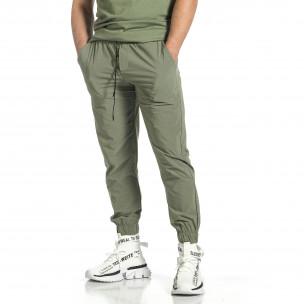 Pantaloni sport bărbați Breezy verde 2