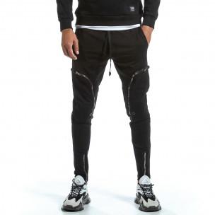 Pantaloni sport bărbați 2Y Premium negru