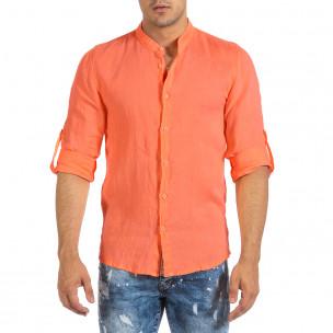 Cămașă cu mânecă lungă bărbați Duca Fashion orange