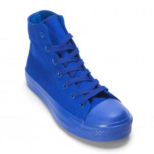 Teniși înalți albaștri pentru bărbați  2