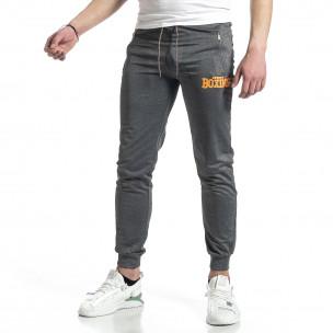 Pantaloni sport bărbați Feel gri