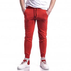 Pantaloni sport bărbați Soni Fashion roșu