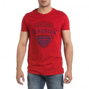 Tricou bărbați Hey Boy roșu 2