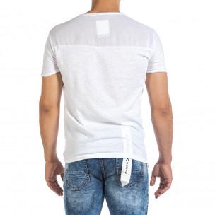 Tricou bărbați Made in Italy alb 2