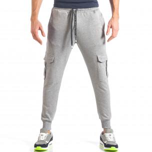 Pantaloni sport bărbați Giorgio Man gri