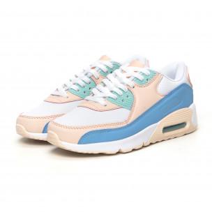 Pantofi sport de dama cu pernă de aer în culori delicate 2