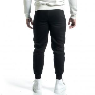 Pantaloni sport bărbați YRO58 negru  2