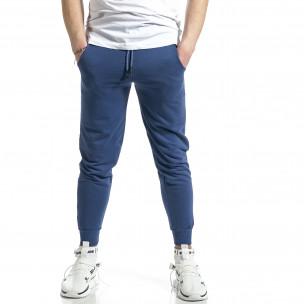 Pantaloni sport bărbați Soni Fashion albastru
