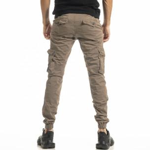 Pantaloni cargo bărbați Blackzi bej 2
