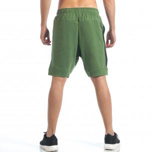 Pantaloni scurți bărbați Black Number verzi 2