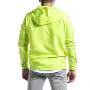 Geacă bărbați Windbreaker verde 2