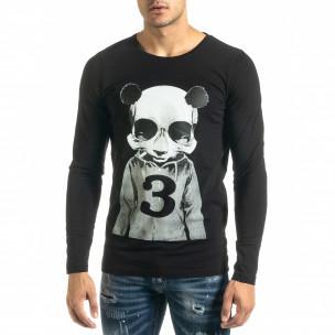 Bluză bărbați Panda neagră