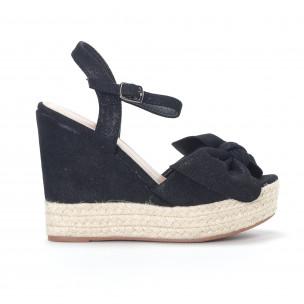 Sandale de dama negre cu platforma