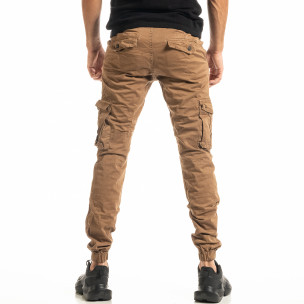 Pantaloni cargo bărbați Blackzi camel 2