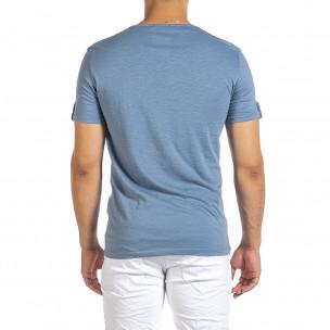 Tricou bărbați Made in Italy albastru  2