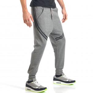 Pantaloni baggy bărbați FM  gri  2