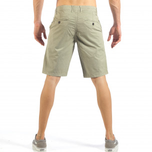 Pantaloni scurți de bărbați bej cu buzunare italiene 2