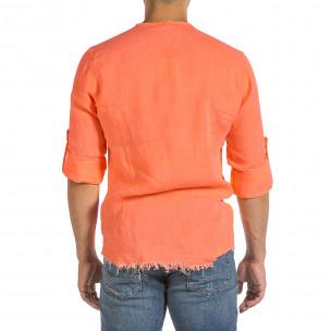 Cămașă cu mânecă lungă bărbați Duca Fashion orange 2