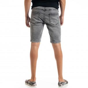 Blugi scurți bărbați gri Big Size Basic  2