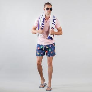 Costum de baie pentru bărbați albastru cu stele de mare