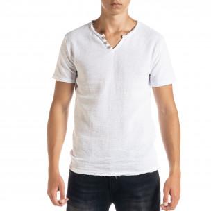 Tricou bărbați Duca Homme alb