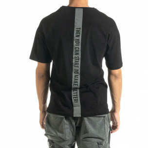 Tricou bărbați Breezy negru 2