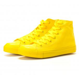 Teniși înalți galbeni pentru bărbați  2