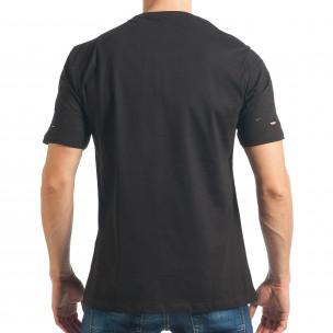 Tricou bărbați Black Island negru  2
